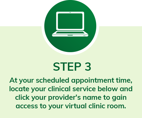step 3 at your scheduled appointment time