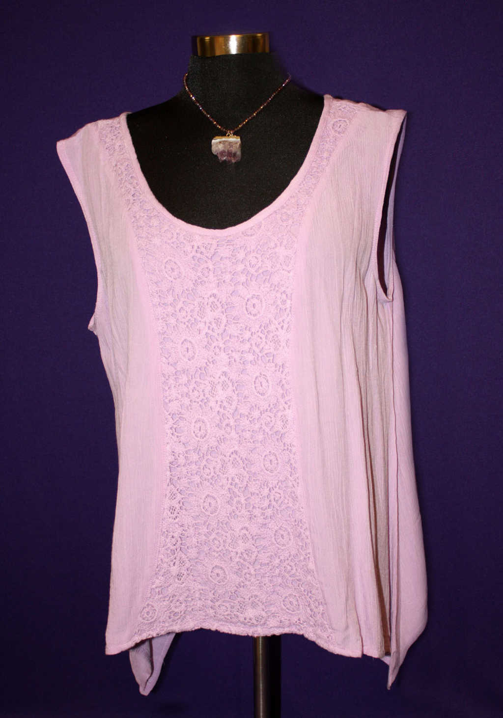Light purple lace flower tank available at Mon General Hospital Apparel Gift Shop